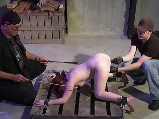 Master and his friend play alongside her asshole and pussy