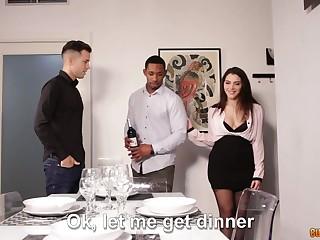 Captivating Italian hottie Valentina Nappi is fucked wits boyfriend and his black neighbor