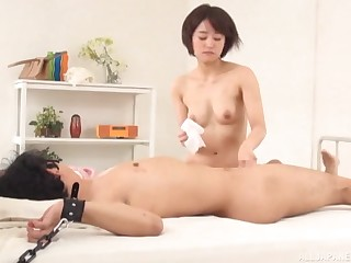 Underling femdom session with regard to Japanese babe riding her promised skimp