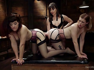 Anal insane lesbians are fisting coupled with toying ever others unconvincing holes