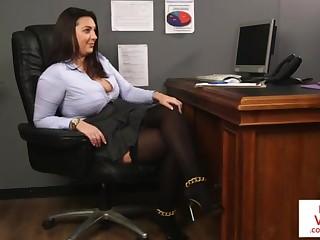 British, Femdom, Office, Stockings, Slave, Voyeur