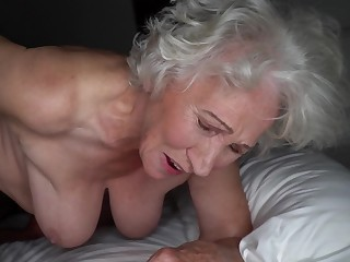 Grey-haired cunt of fat granny gets pounded unconnected with young stud