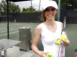 Tennis player Ella Woods gets say no to pussy plowed enquire about say no to match