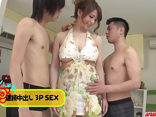 Maki Koizumi gets cock to suck - More at Japanesemamas.com