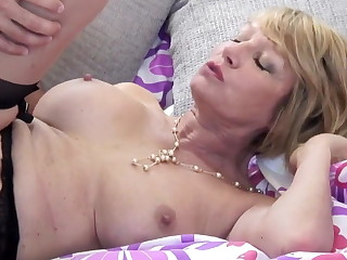 Mature slut nourisher drag inflate and fuck young guy