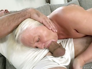 Old critical latitudinarian Anett is fucked hard off out of one's mind hot blooded brat