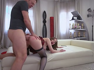 Toy addicted whore Lina Mercury takes Rocco's distinct cock into her asshole