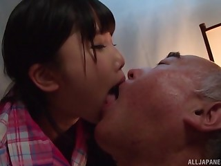 Japanese teen Miyazaki Aya seduces an older guy plus rides him steadfast