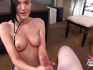 Hottie porn actress point-of-view with cum strive