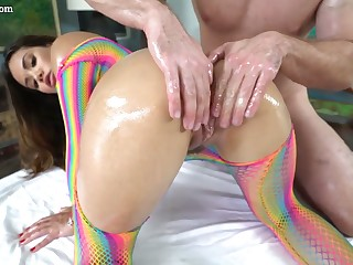 Stunning nicely shaped beauty Keilani Kita gets encompassing lubed and fucked hard