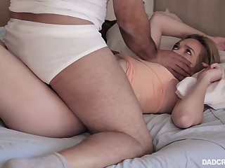 Licentious stepdaughter Katie Kush is fucked by strange stepdad early thither the morning
