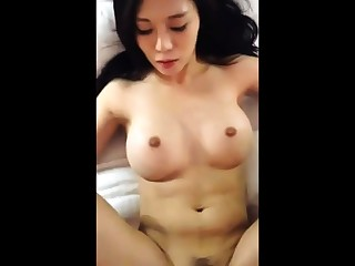 Asian with big Bristols getting fucked