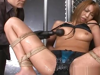 Submissive Japanese MILF Dominated While Bound In Ropes