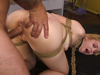 Submissive amateur takes level with in both holes like a botch