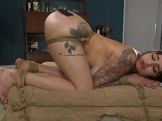 Tattooed Latina abused with an increment of not far from fucked