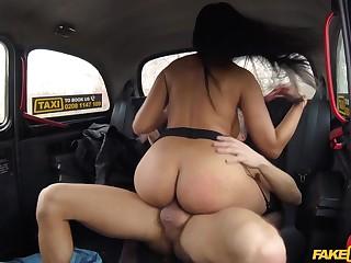 Tanned Latina MILF Katrina Moreno acquire banged in cab