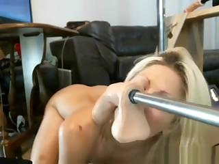 Young Webcam Whore Deepthroating Hard