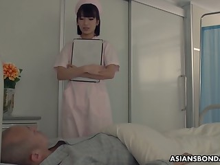 Japanese watch over enjoying some dank gangbang sex with her perverted patients