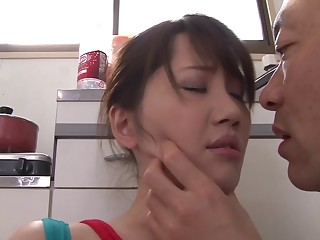 After pussy licking Anna Kishi wants to crowd on a friend's pecker