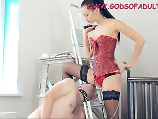 Naughty and Cruel Dark Barb Girl Whipped and Strapon Butt Fuck Get Laid - fetish
