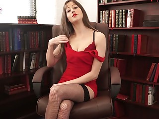 Whorish secretary Jenny is grown erotic stories encircling sexy lingerie and stockings