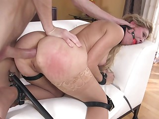 MILF dominated precisely and brutal anal tryout