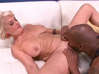 Big Dark-skinned Cock Makes Georgette Cum Hard! - 60PlusMilfs