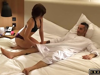 Intense Fuck in chum around with annoy Hotel Room in real hardcore porn video