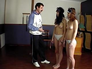 Several girls spanking & ensnarl