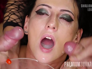 Sherry Vine swallows 66 huge mouthful cumshots