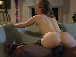 Elegant interracial digs fuck for a skinny beauty on fire