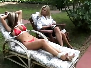 Fisting charm lesbian outdoor fun is sweet