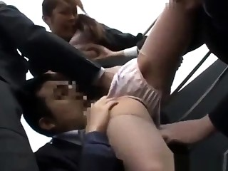 Real public group blowjob make the beast with two backs