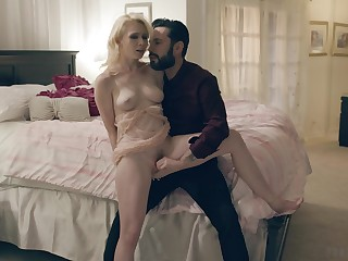 Seductive blonde filmed when taking dick seriously