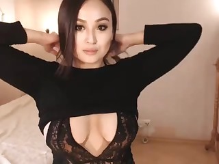 Cute asian huge tits coupled with big bum spliced webcam jesting