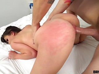 Dazzling whore helter-skelter heavy ass Athena Faris is into riding obese prick