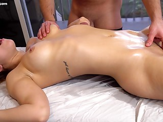 In all directions from oiled curvy beauty Alina Lopez loves some nice clit massage by dude