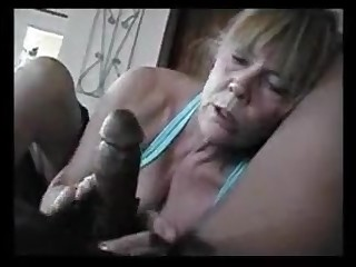This older lady of course honour to suck black dick