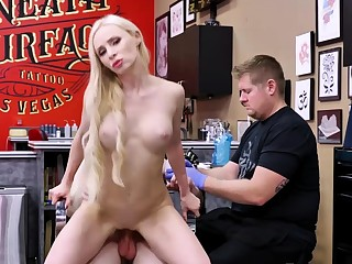 Matthew busts his wad hither his stepmom Natasha's mouth