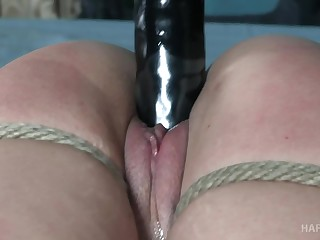 Hot babe with a fat ass gets turned on from bondage sessions
