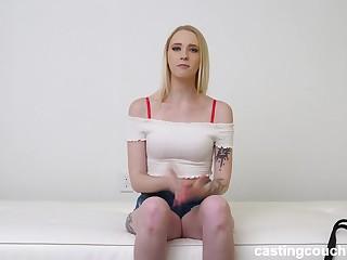 Snug tit blonde wants interracial anal