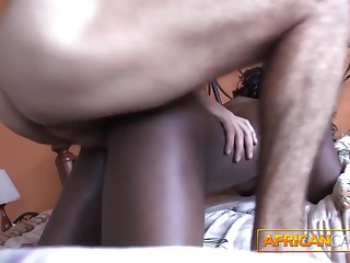 Making out African amateur booty in my hotel room POV
