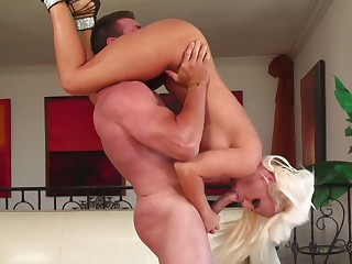 Blonde pornstar Jacky Joy gets say no to pussy fucked balls deep