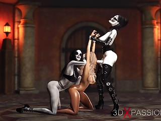 Hot 3d dickgirls be crazy steadfast a dispirited slave relating to the ritual room