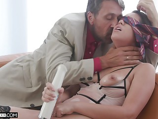 Older man roughly fucks this nude babe while she moans be worthwhile for more