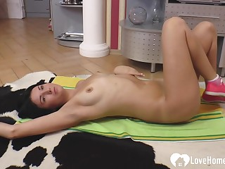 Beuty Russian Housewife is dreaming about a service cadger