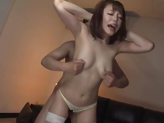 Stunning Japanese coddle with nice pair enervating stockings having sex