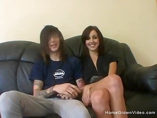 Sexy brunette steady old-fashioned finally let her boyfriend film their sexual encounters.