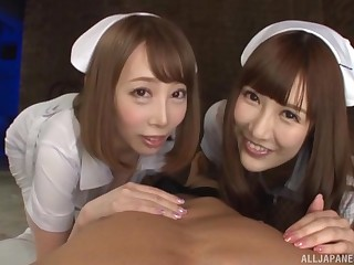 Naughty be enamoured of Kisaki Aya and her colleague share a long dick