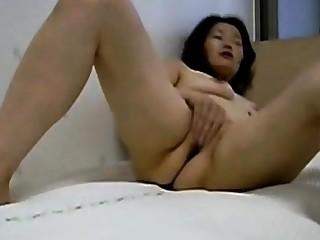 Korean Asian Homemade  - masturbating, cunt, horseshit cum